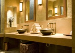 This is a luxury spa bathroom.