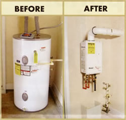 Knoxville Tankless water heater installed by plumber in knoxville tennessee