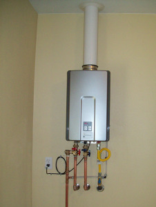 plumber install tankless water heater in fountain city